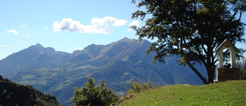 Il panorama del Rifugio Buzzoni