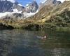 Francesca che nuota  nel laghetto delle Forbici (agosto 2012)
