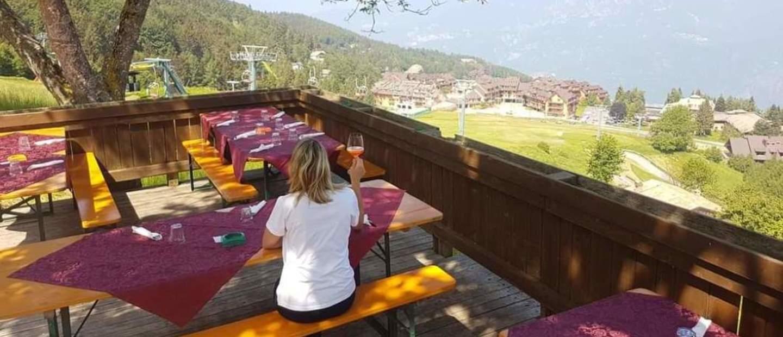 ...direttamente sulle piste da sci...