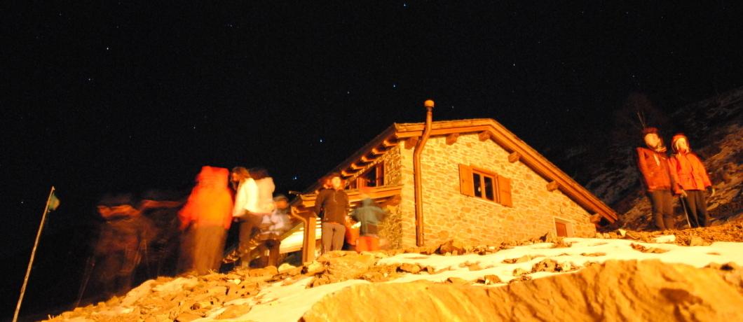 rifugio Griera di notte