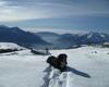 al rientro dalla scialpinistica al Sasso Canale