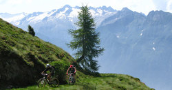 Mountain bike in Valcamonica