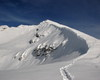 Cornici di neve sulla cresta del Pizzo Arera