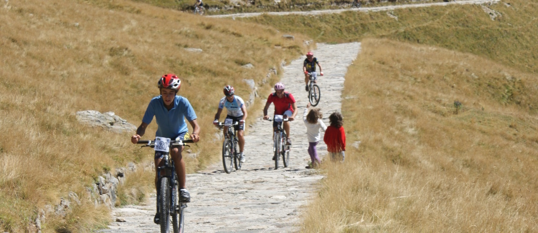 Salita al rifugio Jorio in mountain bike