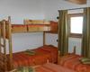 Le camere da letto del rifugio Motta