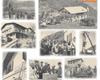 Momenti della costruzione e dell'inaugurazione del rifugio nel 1960.