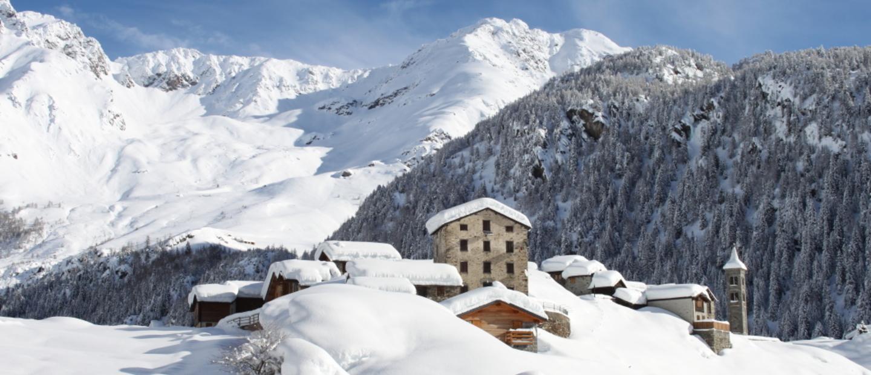 Panoramica invernale della Loc.