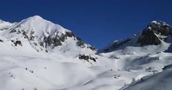 Cima Laione con le racchette da neve