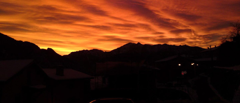 tramonto  al rifugio Valle del Drago