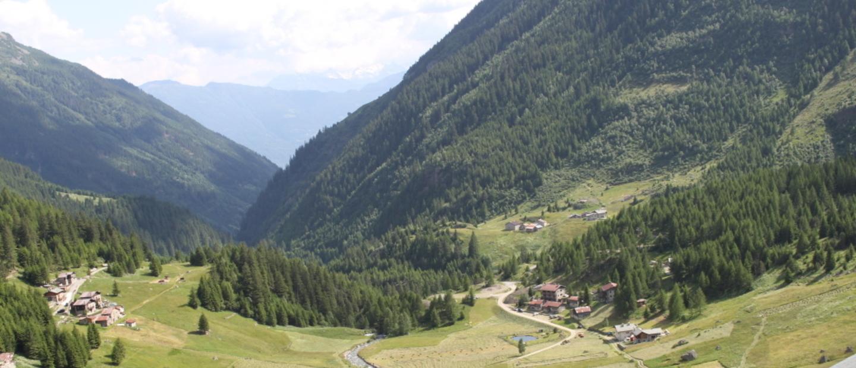 Vista dal Rifugio sulla Val Grosina
