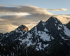 Vista del tramonto, dal rifugio Brunone, sulle vette del Diavolo e Diavolino