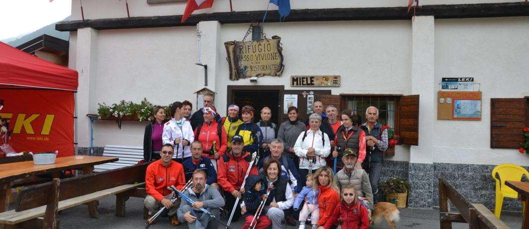escursionisti al rifugio Vivione