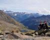 Poanorama dalla cima Gavia,strada prov. lago nero,guppo Adamello sullo sfondo.
