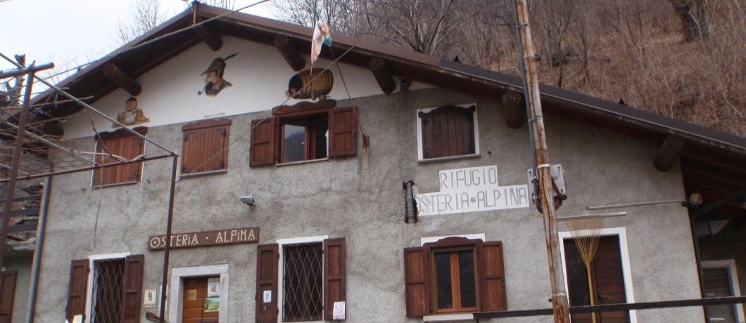 ingresso osteria alpina di Codera