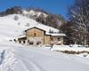 il rifugio valtrompia con neve