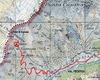 Particolare cartina geografica con il percorso per raggiungere il rifugio