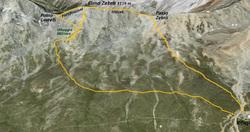 Cima Zebrù 3119 m - sentiero militare