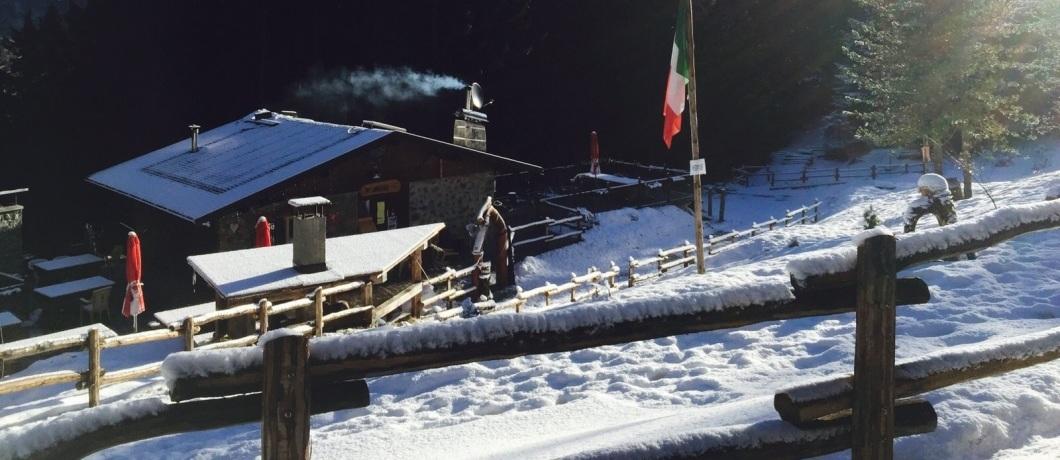 Rifugio Baita Motin versione invernale