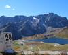 Il Lago Nero sul sentiero 102 che passa sopra al rifugio