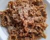 Pappardelle con farina saracena e pino mugo al ragu di Cervo