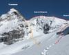 Via normale alla Thurweiser e i coni di ghiaccio - ghiacciao del monte zebrù gruppo ortles Cevedale