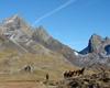 La piana di Valsecca con il passo omonimo.