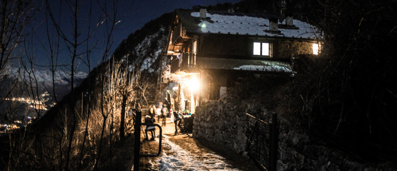 Rifugio Frasnedo di notte
