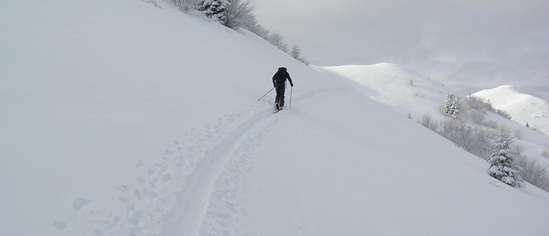 scialpinismo al monte Guglielmo