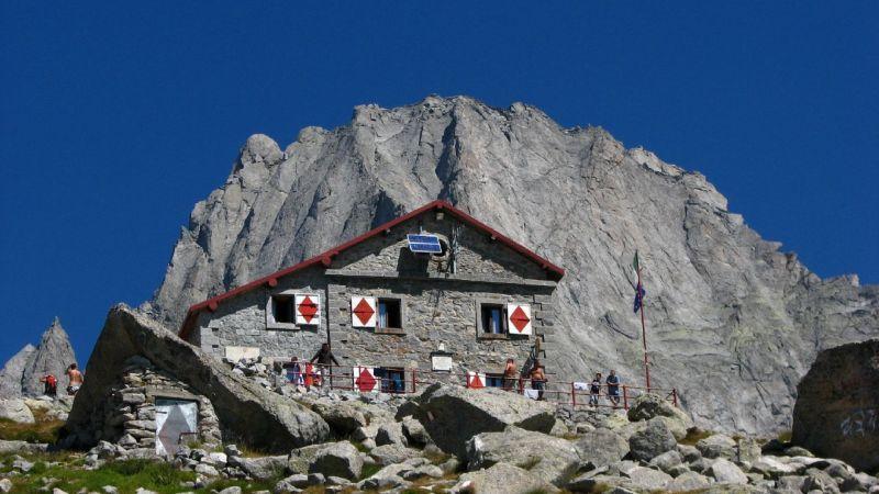 Gianetti Hütte, Masino Tal auf dem Weg Roma   Rifugi di Lombardia
