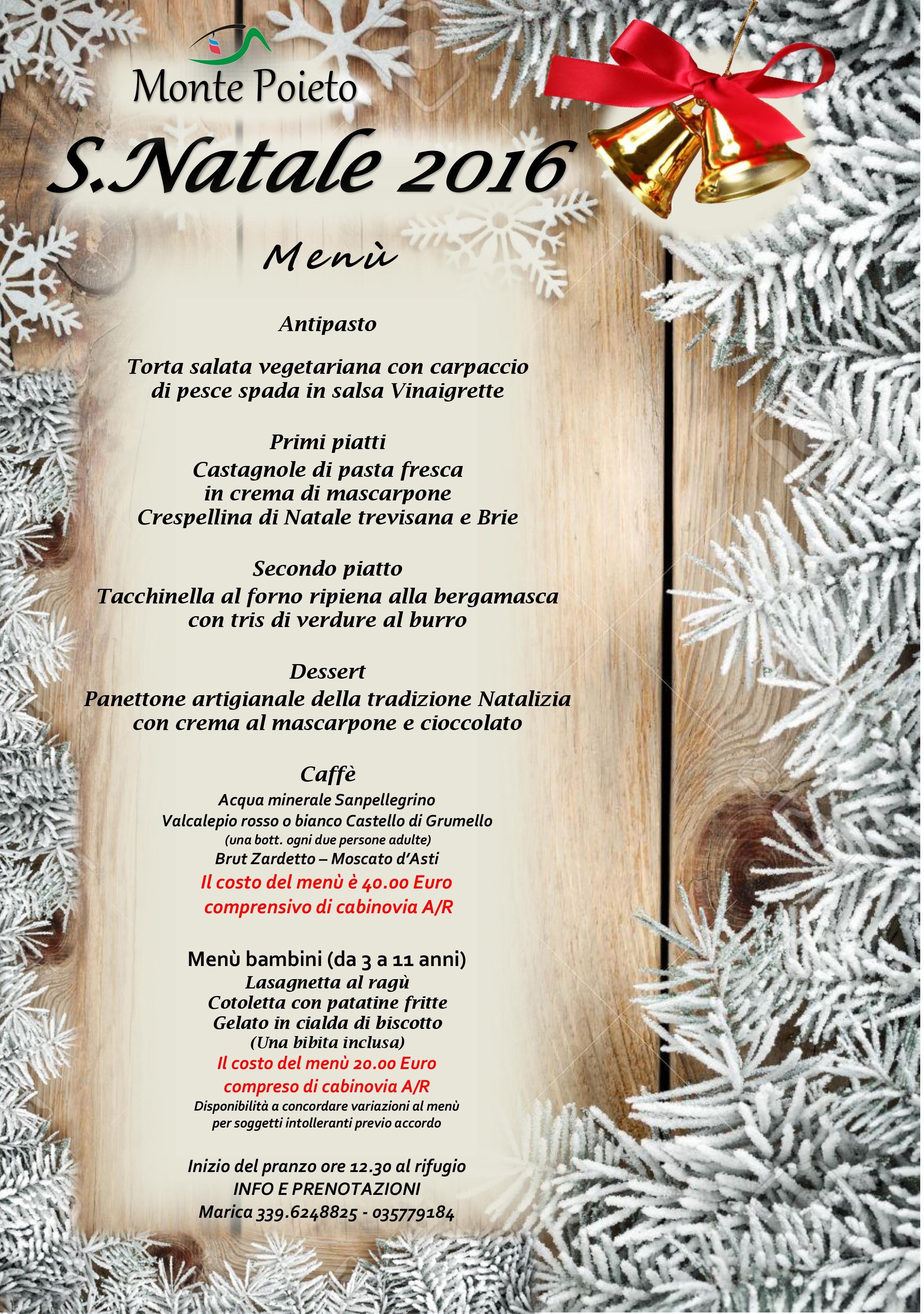 Menu Di Natale Per 30 Persone.Pranzo Di Natale Al Rifugio Monte Poieto Rifugi Di Lombardia